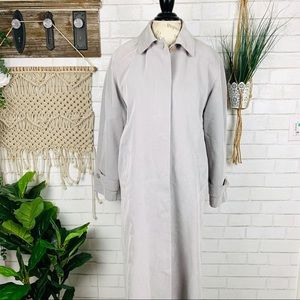 Anne Klein vintage grey trench coat size 4p